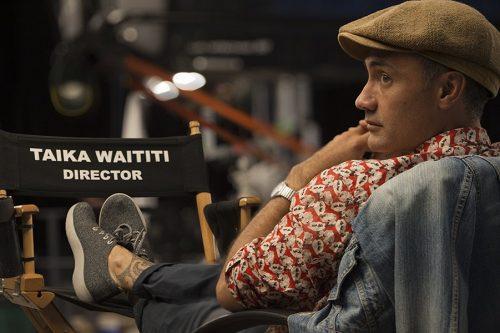 """Scarlett Johansson and Adolf Hitler in Taika Waititi's """"Jojo Rabbit"""""""