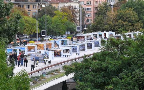 Celebration of Irish Culture on the Lovers Bridge in Sofia