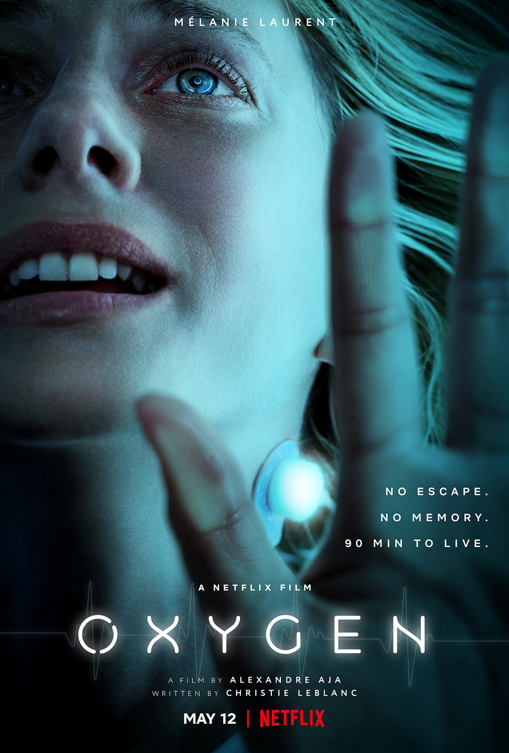 Full Trailer for the Sci-fi Thriller Oxygen by Alexandre Aja with Melanie Laurent