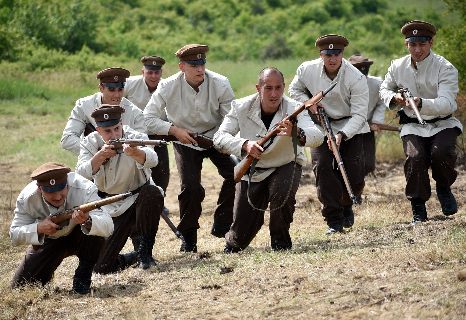 Soldiers from the First World War Filmed for a Short Film